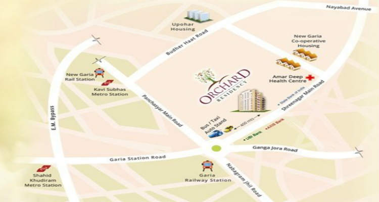 Location Map of Orchard Residency