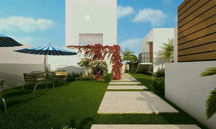 Decorated Landscaped Terrace