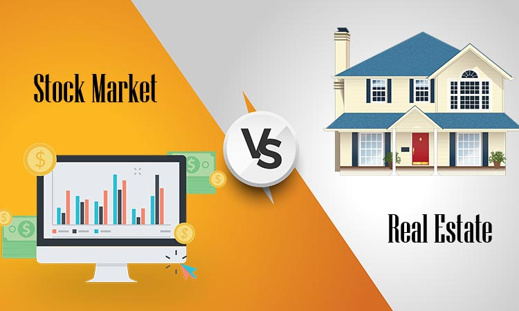 real estate vs stocks