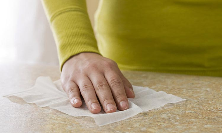 Use Disinfect Wipes to Clean Room