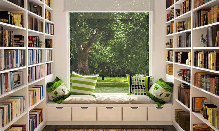 Organized Reading Nook