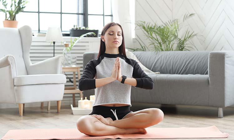 Meditation Corner in Living Room